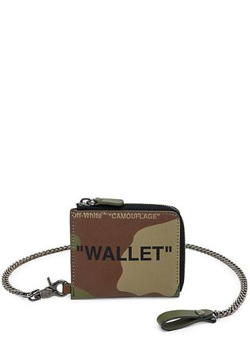 Off-white Quote Leather Chain Wallet