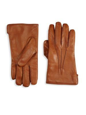 Saks Fifth Avenue Collection Cashmere Lined Clean Leather Glove