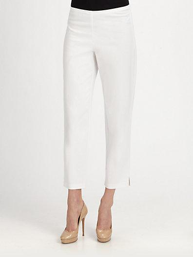 Eileen Fisher Stretch Organic Cotton Ankle Pants