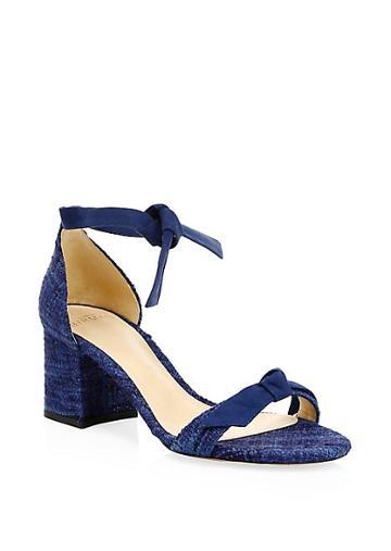 Alexandre Birman Clarita Knotted Ankle-strap Block Heels