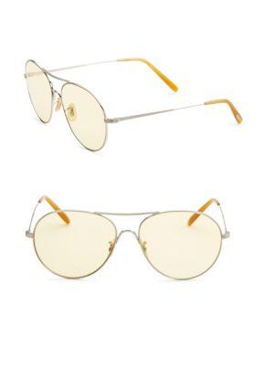 Oliver Peoples Rockmore 58mm Oversized Aviator Sunglasses