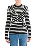 Msgm X Striped Knit Top