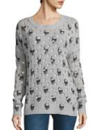 360 Cashmere Avril Burnout Skull Sweater