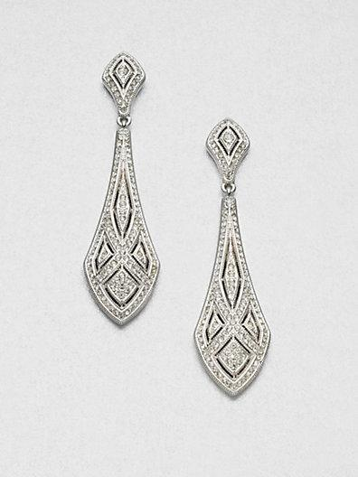 Adriana Orsini Art Deco Crystal Drop Earrings