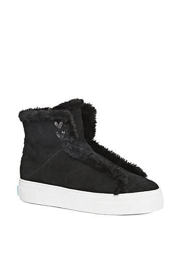 Jack Rogers Mei Faux Shearling-lined Suede Sneakers