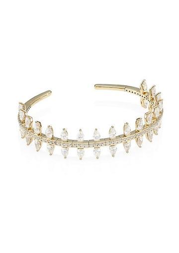 Adriana Orsini 18k Goldplated Silver & Cubic Zirconia Cuff Bracelet