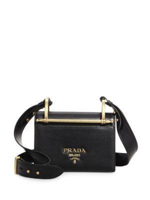 Prada Pattina Leather Shoulder Bag