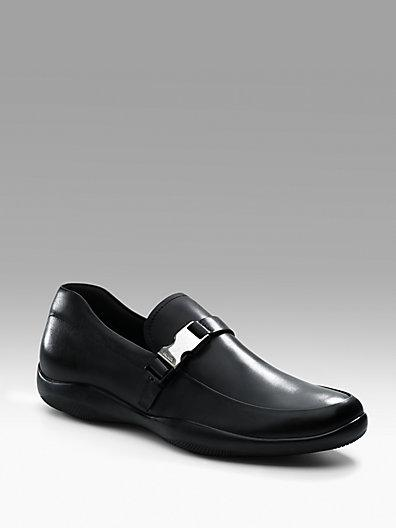 Prada Buckle-trimmed Loafers