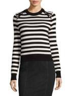 Michael Kors Collection Cashmere Striped Pullover