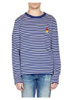 Ami Striped Smiley Long Sleeve Tee