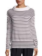 Atm Anthony Thomas Melillo Merino Wool Funnelneck Striped Sweater