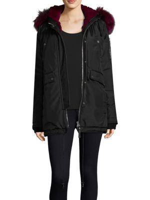 Nicole Benisti Melrose Fox & Rabbit Fur-lined Parka