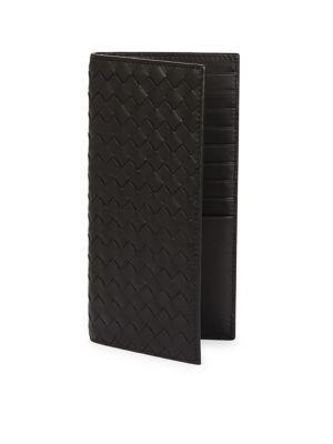Bottega Veneta Long Woven Leather Wallet