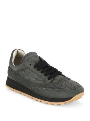 Brunello Cucinelli Monili Cap Toe Suede Sneakers