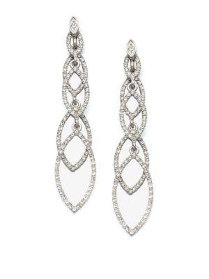 Abs By Allen Schwartz Jewelry Navette Linear Drop Earrings