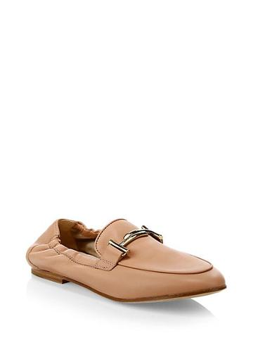 Tod's Cuoio Legg Leather Moccasins