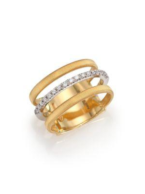 Marco Bicego Masai Diamond, 18k Yellow Gold & 18k White Gold Ring