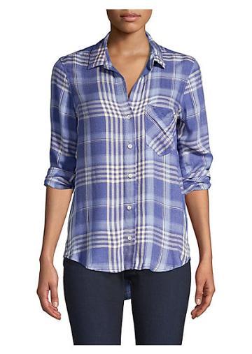Bella Dahl Plaid Pocket Button-down Shirt