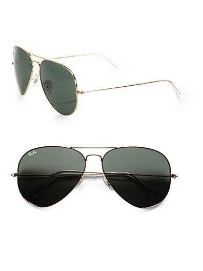 Ray-ban Original Gold Aviator Sunglasses