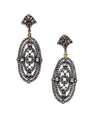 Bavna Chandelier Diamond Earrings