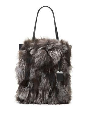 Michael Kors Collection Eleanor Fox Fur Tote