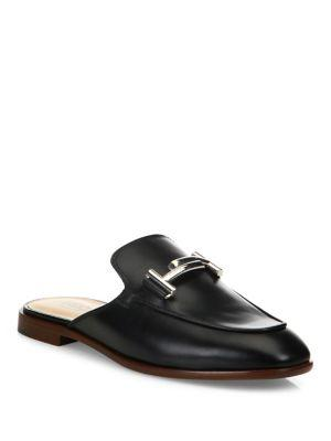 Tod's Double-t Leather Slip-on Mules