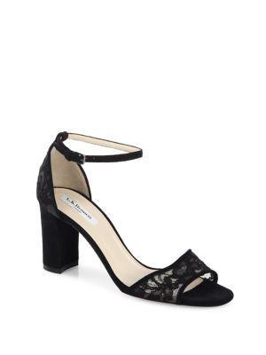 L.k. Bennett Helena Suede Ankle Strap Sandals