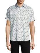 Etro Polka Dots Cotton Button-down Shirt
