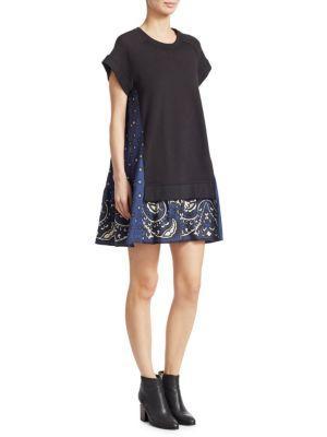 Redvalentino Cotton Sweatshirt Dress