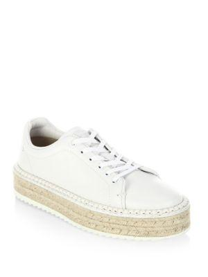 Rag & Bone Kent Leather Espadrille Platform Sneakers