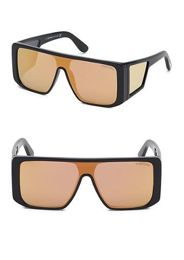 Tom Ford Eyewear Atticus Geometric Shield Sunglasses