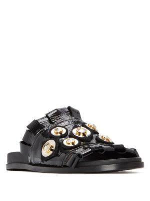 Mercedes Castillo Loula Leather Slide Sandals