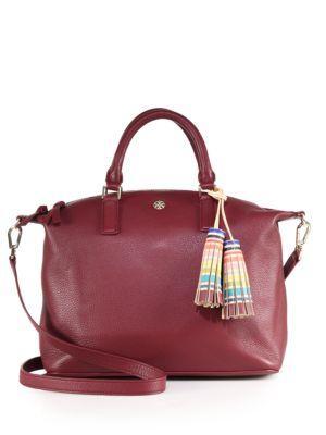 Tory Burch Kerrington Leather & Multicolor Tassel Satchel