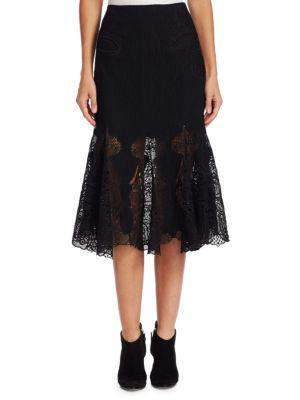 Jonathan Simkhai Thread Mesh Window Lace Skirt