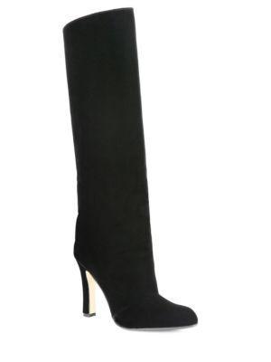 Manolo Blahnik Khomo 105 Tall Velvet Boots