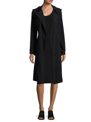 Helmut Lang Satin Trench Dress