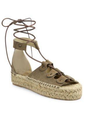 Soludos Ghillie Suede Platform Espadrille Sandals