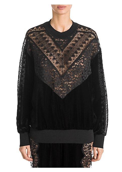 Stella Mccartney Velvet And Lace Sweater