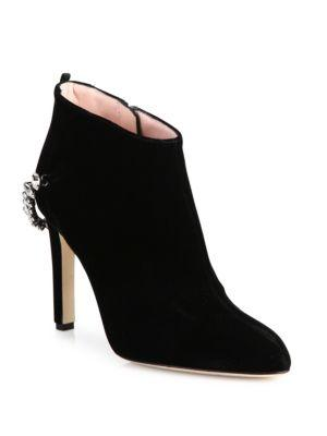 Sjp By Sarah Jessica Parker Balcony Velvet & Crystal Booties