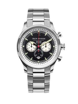 Jack Mason Nautical Chronograph Stainless Steel Bracelet Watch