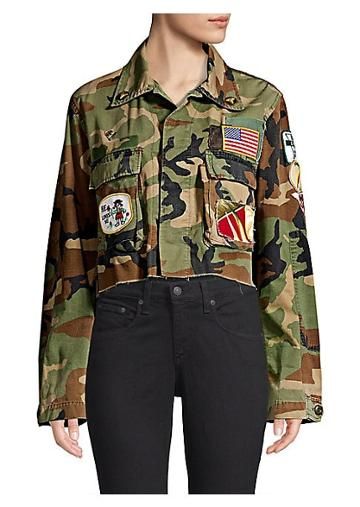 Riley Floral Cut-off Army Jacket