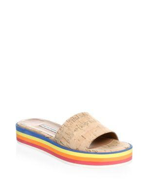 Tabitha Simmons Rainbow Platform Slides