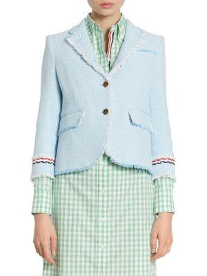 Thom Browne Cotton Tweed Jacket
