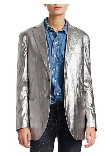 R13 Metallic Boyfriend Blazer