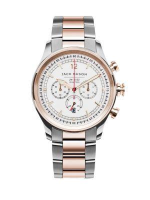 Jack Mason Nautical Chronograph Two-tone Stainless Steel Bracelet Watch