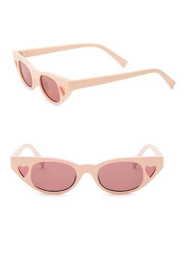 Karen Walker 56mm Le Specs X Adam Selman The Heartbreaker Cateye Sunglasses