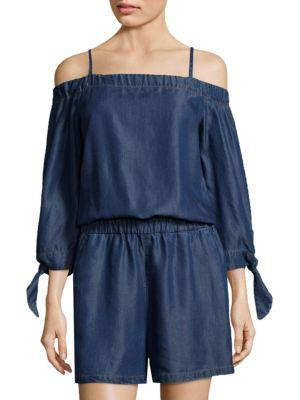Splendid Off-the-shoulder Romper