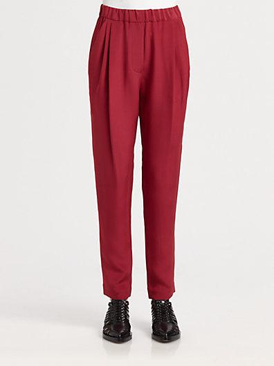 3.1 Phillip Lim Draped-pocket Silk Trousers