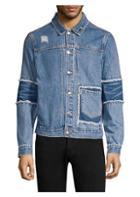 Ovadia & Sons J-patchwork Distressed Denim Jacket