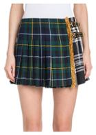 Versace Plaid Pleated Mini Skirt